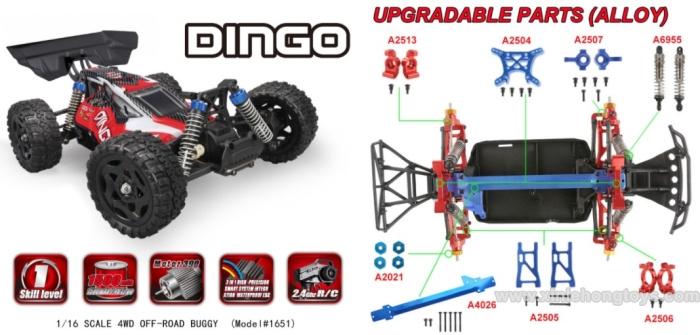 REMO HOBBY Dingo 1651 Parts