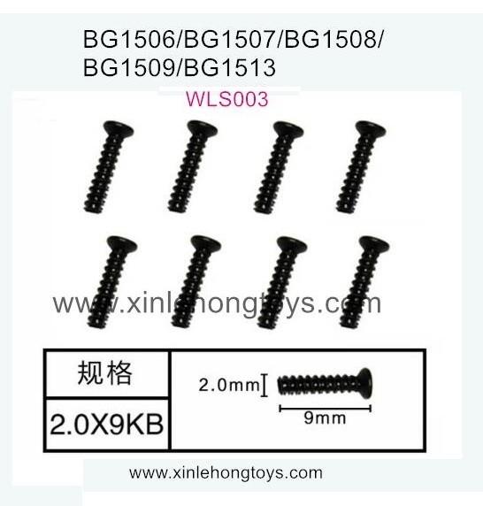 Subotech BG1509 Parts Countersunk Head Screws WLS003 2.0X9PB