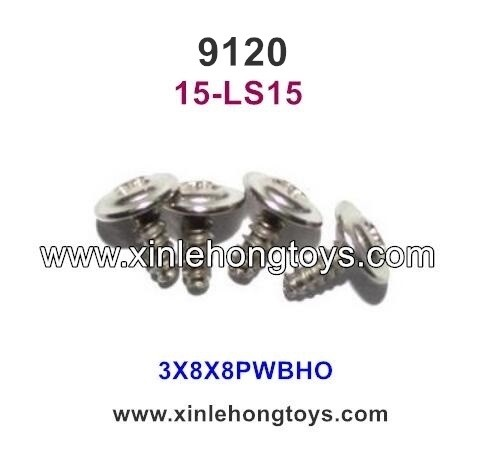 XinleHong Toys 9120 Parts Round Headed Screw 15-LS15 (3X8X8PWBHO)