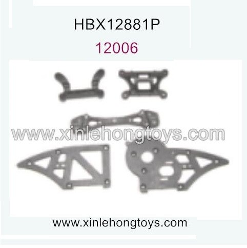 HaiBoXing HBX 12881P Parts Chassis Side Plates B+Shock Tower Front Rear 12006