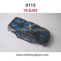 XinleHong 9115 Parts Car Shell Blue 15-SJ02