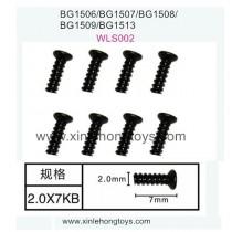 Subotech BG1513 BG1513A BG1513B Parts Countersunk Head Screws WLS002 2.0X7PB