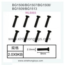 Subotech BG1513 BG1513A BG1513B Parts Countersunk Head Screws WLS003 2.0X9PB