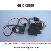 HBX 12889 Parts ESC+Motor+Rear Gear box Housing+Gears Complete 12733+12640