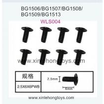 Subotech BG1513 BG1513A BG1513B Parts Machine Wire Screw WLS004 2.5X6X6PWB