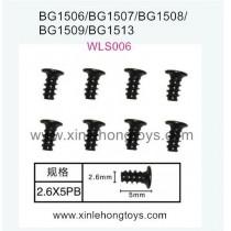 Subotech BG1513 BG1513A BG1513B Parts Flat Head Screw WLS006 2.6X5PB