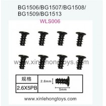 Subotech BG1506 Parts Flat Head Screw WLS006 2.6X5PB