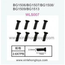 Subotech BG1513 BG1513A BG1513B Parts Flat Head Screw WLS007 2.6X7PB