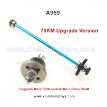 WLtoys A959 Upgrade Metal Differential+Main Drive Shaft