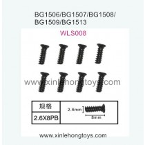 Subotech BG1513 BG1513A BG1513B Parts Flat Head Screw WLS008 2.6X8PB