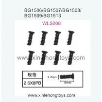 Subotech BG1509 Parts Flat Head Screw WLS008 2.6X8PB