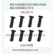 Subotech BG1509 Parts Flat Head Screw WLS010 2.6X10PB