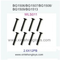 Subotech BG1509 Parts Flat Head Screw WLS011 2.6X12PB