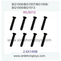 Subotech BG1509 Parts Countersunk Head Screws WLS012 2.6X14KB