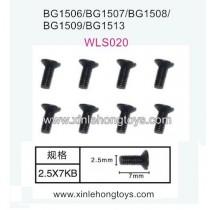 Subotech BG1513 BG1513A BG1513B Parts Countersunk Head Screws WLS020 2.5X7KB