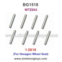 Subotech BG1508 Parts Iron Rod, Optical Shaft WTZ003 1.5X10 (For Hexagon Wheel Seat)