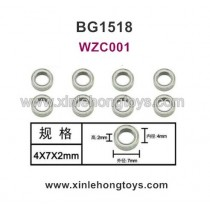 Subotech BG1518 Parts Ball Bearing WZC001 4X7X2mm
