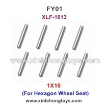 Feiyue FY01 Fighter-1 Parts 1X10 Steel Pipe, Optical Shaft XLF-1013 (For Hexagon Wheel Seat)