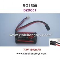 Subotech BG1509 Parts Battery 7.4V 1500mAh 18650 DZDC01