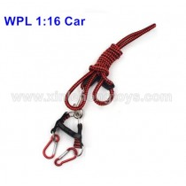 WPL B-1 B-16 Parts Car Traction Rope-Red