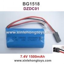 Subotech BG1518 Battery 7.4V 1500mAh DZDC01