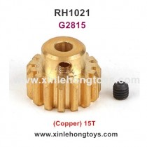 REMO HOBBY 1021 9EMU Parts Motor Gear (Copper) 15T G2815