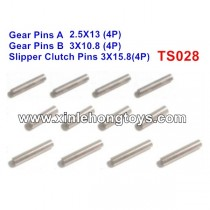 HBX T6 Parts Gear Pins+Slipper Clutch Pins TS028