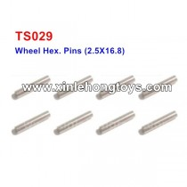 HBX T6 Parts Wheel Hex. Pins TS029