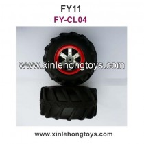 Feiyue FY11 Parts Tires, Wheel FY-CL04 Red