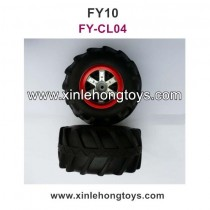 FeiYue FY10 Parts Tires, Wheel FY-CL04 Red