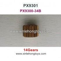 Pxtoys 9301 Parts Motor Gear (14 Gears) PX9300-34B