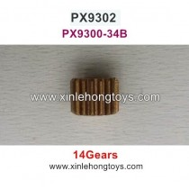 Pxtoys Speed Pioneer 9302 Parts Motor Gear (14 Gears) PX9300-34B