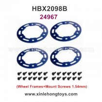 HaiBoXing HBX 2098B Parts Aluminum Wheel Frames+Mount Screws1.54mm 24967