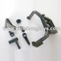 HBX T6 Parts Steering Assmebly+Rear Spare Wheel Rack TS039
