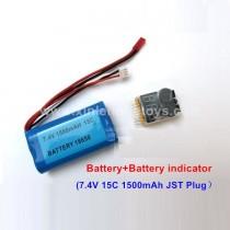 WPL B-1 B16 Upgrade Battery+Battery indicator