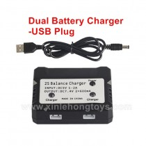 RC car Parts 7.4V Dual Battery Charger