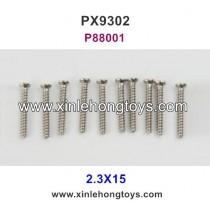 Pxtoys 9302 Parts 2.3X15 Round Head Screw P88001