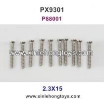 Pxtoys 9301 Parts 2.3X15 Round Head Screw P88001
