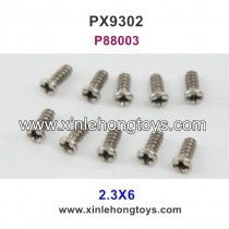 Pxtoys 9302 Parts 2.3X6 Round Head Screw P88003