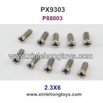 Pxtoys 9303 Parts 2.3X6 Round Head Screw P88003