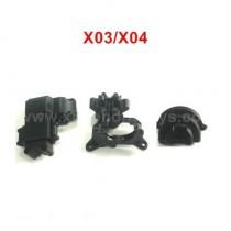 XLF X04 X03 RC Parts Rear Transmission Housing Components C12012+C12013+C12014
