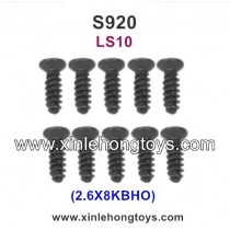GPToys S920 Judge 1/10 4WD Monster Truck Parts Countersunk Head Screw 2.6X8KBHO LS10 10PCS