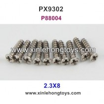Pxtoys 9302 Parts 2.3X8 Round Head Screw P88004