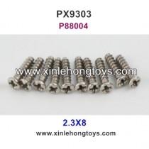Pxtoys 9303 Parts 2.3X8 Round Head Screw P88004