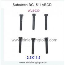 Subotech BG1511A BG1511B BG1511C BG1511D RC Car Parts Half Teeth Screw WLS030 2.3X11.2