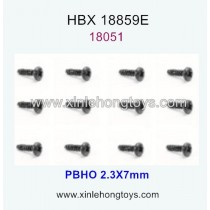 HaiBoXing HBX 18859E Parts Pan Head Self Tapping Screw 18051 2.3X7mm