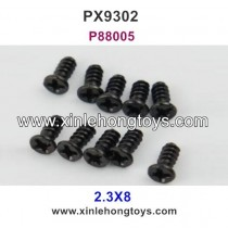 Pxtoys 9302 Parts 2.3X8 Flat Head Screws P88005