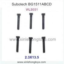 Subotech BG1511A BG1511B BG1511C BG1511D Parts Half Teeth Screw WLS031 2.3X13.5