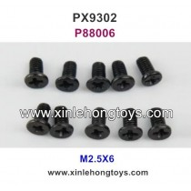 Pxtoys 9302 Parts M2.5X6 Flat Head Screws P88006