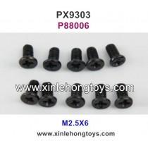 Pxtoys 9303 Parts M2.5X6 Flat Head Screws P88006